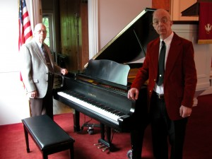 Bob Goss and Kerry Chandler with the Yamaha Grand Piano.